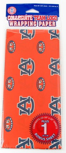 NCAA Auburn Tigers Wrapping Paper at Amazon.com