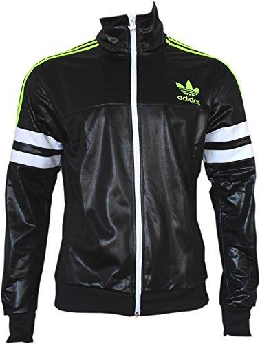 adidas Originali M Cile 62 TT2 Giacca Slim giacca Giacca Per Allenamento Nero G90074 - Nero/Bianco/Verde, Uomo, XS