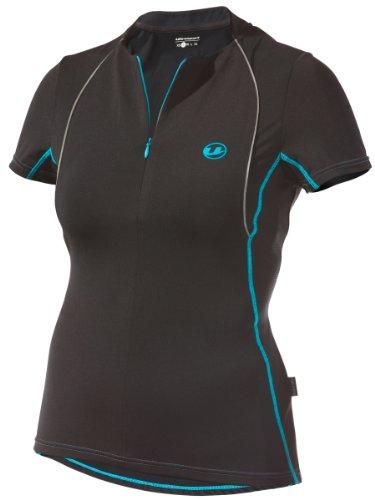 Ultrasport Women's Quick-Dry-Function Running Shirt - Black/Turquoise, Large