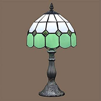 ferand 8 quot tiffany table lamp glass shade bedroom bedside