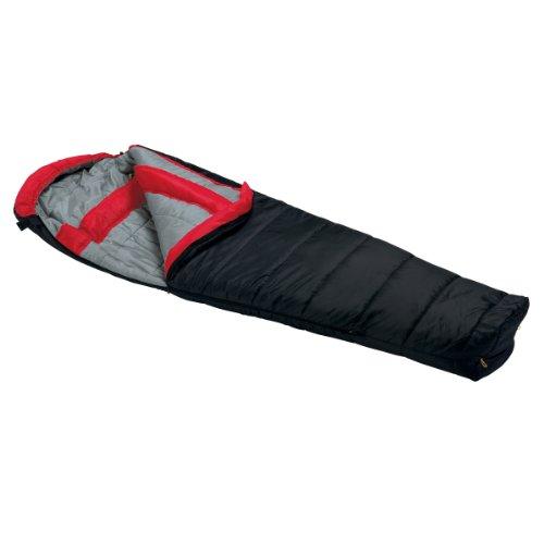 Wenzel Windy Pass 0-Degree Mummy Sleeping Bag, Black, 33 X 84-Inch