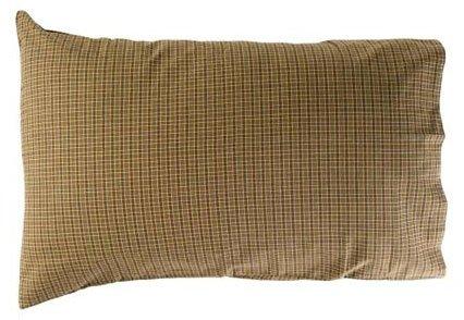 "Tea Cabin Green Plaid Pillow Case Set Of 2 21X30"""