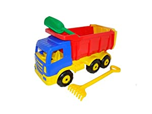Wader Premium Toy Dump Truck with Sand Spade and Rake (Large)