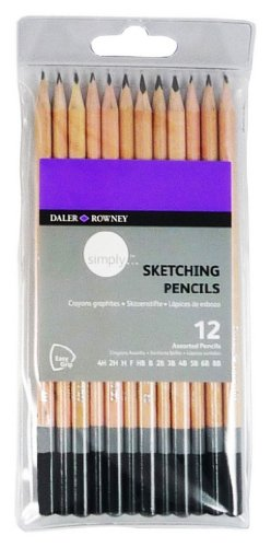 Daler Rowney Sketching Pencils, 12 Count (5011386074696)