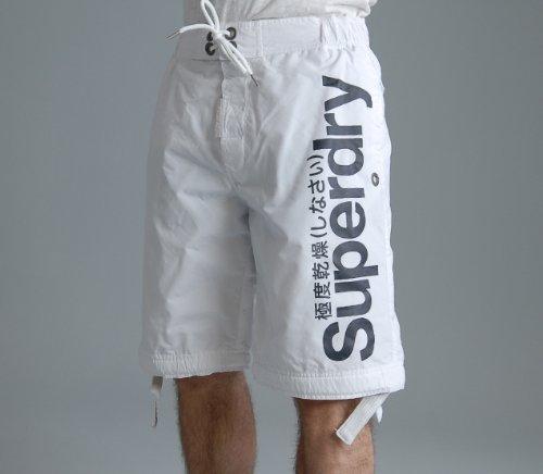 極度乾燥(しなさい)Superdryスーパードライ/Logo Boardie shorts/ショートパンツ [white & navy]