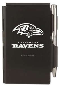Baltimore Ravens Engraved Metal Pocket Notes in box, Black with White Imprint (12021-QQA)