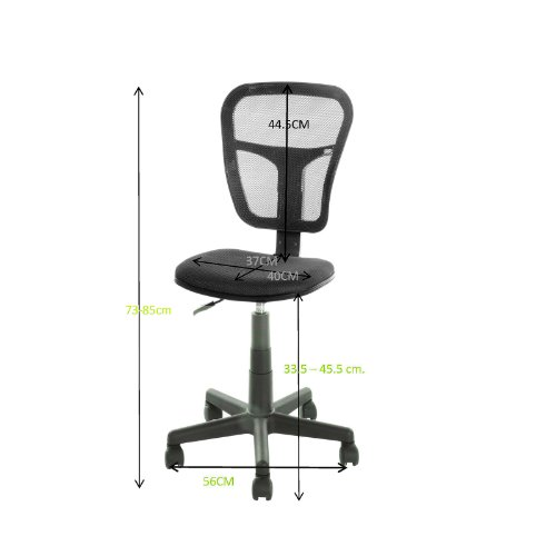 vecelo furniture swivel rolling chair office task computer desk chair without arms with mesh fabric pads from ustar - Rolling Chair