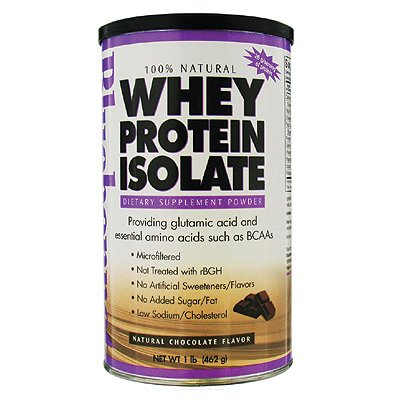 Bluebonnet Whey Protein Isolate Powder Chocolate 1Lb front-722798