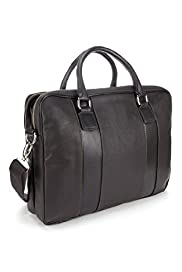 Double Handle Panelled Laptop Bag