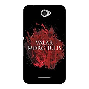 Ajay Enterprises Valar red and black Back Case Cover for Sony Xperia E4