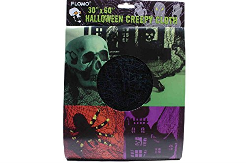 Black Creepy Cloth Death Rag Scary Cemetary Spooky Costume Reaper (Pack of 2)
