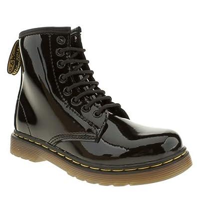 Dr Martens Delaney Lace Boot Patent - 1 Uk - Black - Leather