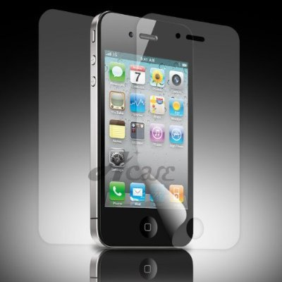 Acase(TM) AcaseView Screen Protector Film Clear (Invisible) for iPhone 4 4G AT&T and Verizon (3 Pack + 3 Bonus Back Films)