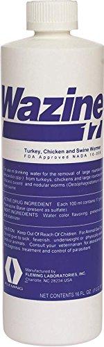 Fleming 17% Wazine Turkey, Chicken & Swine Dewormers, 8 oz (Chicken Wormer compare prices)