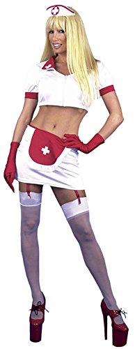 Adult Sexy Naughty Nurse Costume (Size:Small 5-7)