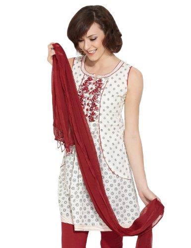 Lovely Lady Women Cotton Natural Elegance Cotton Off White Kurti