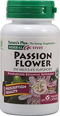 Nature's Plus Herbal Actives Passion Flower -- 250 mg - 60 Vegetarian Capsules