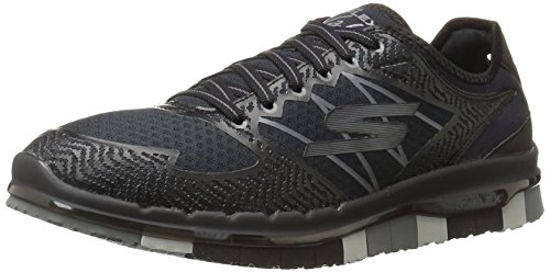 Skechers Performance Women's Go Flex-Momentum Walking Shoe, Black/Gray, 9 M US