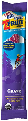 CLIF KID ZFRUIT - Organic Fruit Rope - Grape - (0.7 oz, 18 Count) (Fruit Twists compare prices)