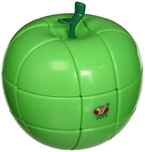 YJ 3x3 Apple Puzzle Cube Green
