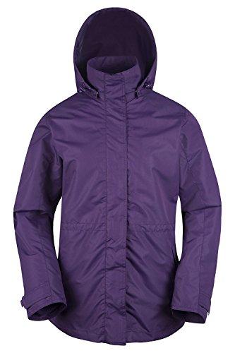 Mountain Warehouse Fell Wasserabweisende Damenjacke mantel 3 in 1 rausnehmbarer Fleece-Innenteil Multifunktionsjacke mantel Regenjacke mantel Violett DE 36 (EU 38) -