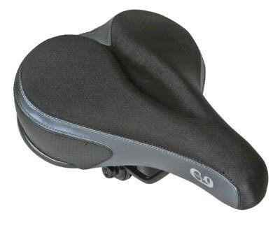 Sunlite Cloud-9, Bicycle Suspension Comfort Saddles, Comfort Gel Mens, Tri Color Lycra