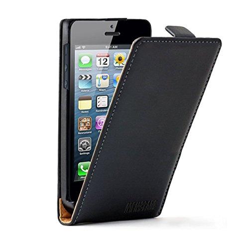 Nera Custodia in Pelle per Apple iPhone 5 / 5G / 5S - Flip Case Cover