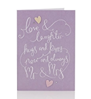 Love & Laughter Mr. and Mrs. Wedding Card