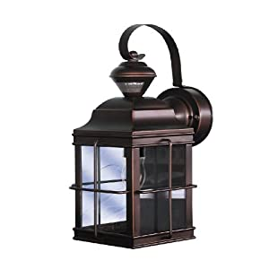 Click to buy Outdoor Wall Lighting: Heath Zenith SL-4144-AZ-A New England Carriage Style 150-Degree Motion Sensing Decorative Security Light, Antique Bronze from Amazon!