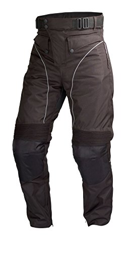 Motorcycle Biker Cordura Waterproof, Windproof Riding Pants Black with Removable CE Armor