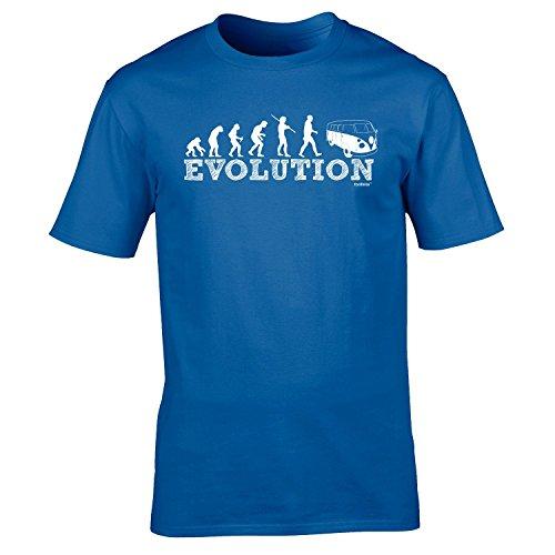 Fonfella Slogans Men'S Evolution Camper - Loose Fit Baggy T Shirt X Large Royal Blue front-623203