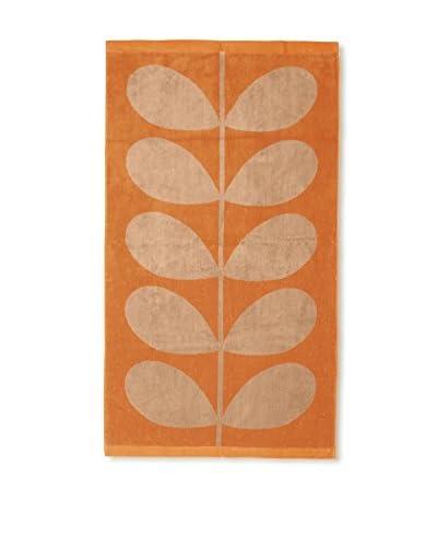Orla Kiely Stem Jacquard Bath Towel, Tea Rose/Orange