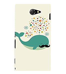 EPICCASE Dreaming Whale Mobile Back Case Cover For Sony Xperia M2 (Designer Case)