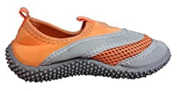 TOOSBUY Athletic Water Shoes Aqua Pool Beach Socks,Swim Shoes(Toddler/Little Kid/Big Kid) Orange3536