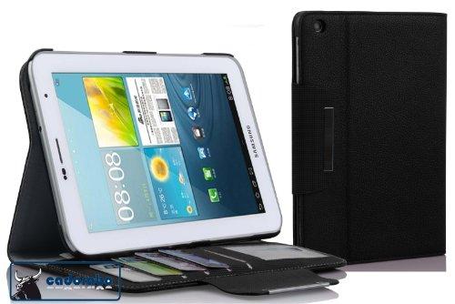 Cadorabo! Premium Ultra Slim Case Tasche mit Standfunktion für Samsung Galaxy Tab 2 7.0 P3100/ P3110 schwarz
