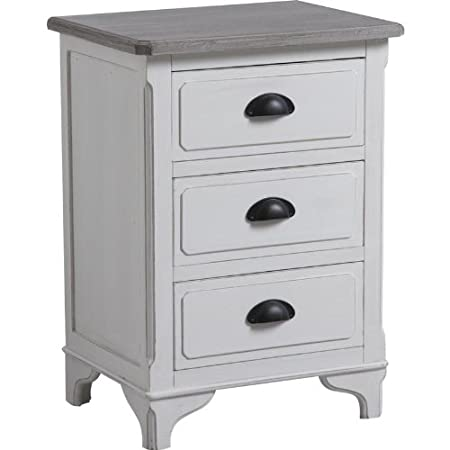 Commode de 3 tiroirs en pin et medium