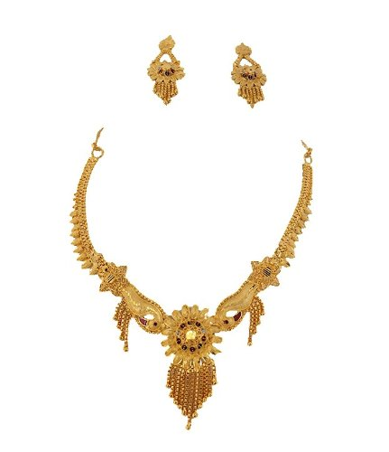 Goldencollections Golden Lovely Necklace Set for Women #DSCF4024 (yellow)