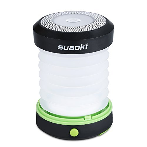 Suaoki Camping Lantern Led Light Flashlight Powered By 3AA Batteries Collapsible Ultra Compact Great for Hiking Camping Tent Garden Patio etc (Green) (Propane Lantern Mini compare prices)