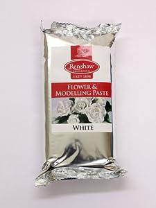 Pasta de modelar - Para crear objetos decorativos y flores para tartas - 250 gramos - Blanco - 5221