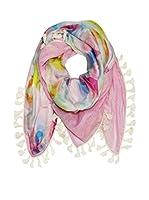 Plomo o Plata Fular (Rosa / Multicolor)