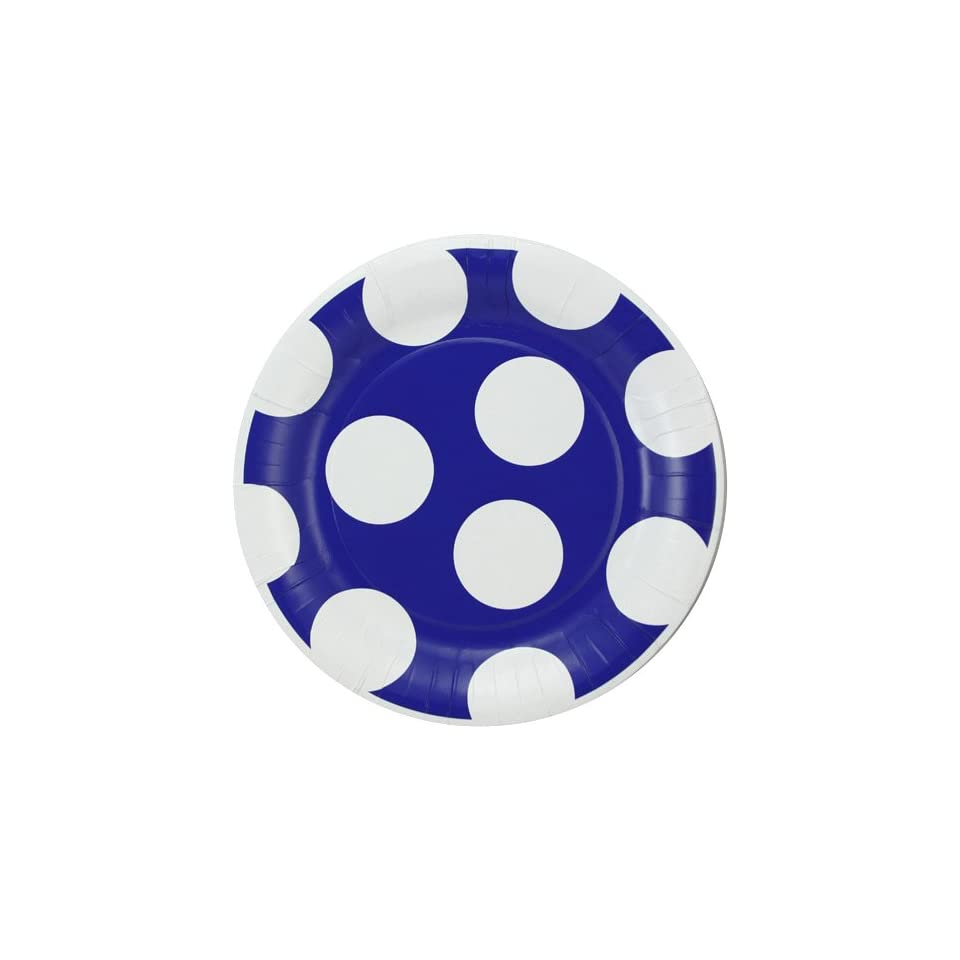 NCAA Duke Blue Devils 8 Pack Polka Dot Dinner Plates
