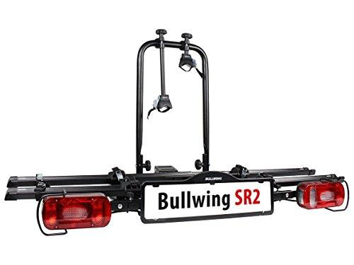 SR2-Fahrradtrger-VW-CADDY-fr-den-Transport-von-2-Fahrrdern-klappbar-mit-Schnellverschluss-fr-eine-schnelle-Montage-auf-der-Anhngerkupplung-NEU