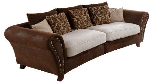 Cavadore 500 Big Sofa Bajla 257 x 75-85 x 120 cm, Inari beige 22 / Antik chocco thumbnail