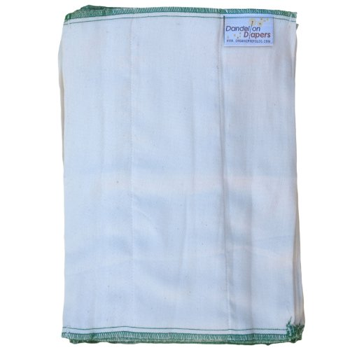 Dandelion Diapers 100% Organic Cotton Dsq Prefolds Dozen - Size 0