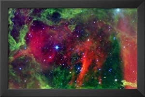 Professionally Framed Every Rose has a Thorn Nebula Space Photo Art Poster Print - 11x17 with Solid Black Wood Frame