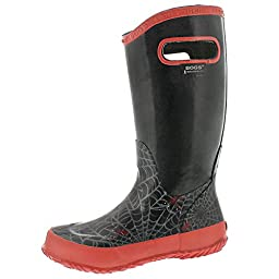 Bogs Boys\' Rainboot Spiders Rain Boot Black 3 M US