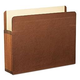 Pendaflexamp;reg; 5 1/4amp;quot; Expansion File, Straight Cut, Red Fiber/Manila, Letter, 5/Box