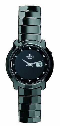 Junghans Uhren 013/1002.44 - Reloj para mujeres, correa de cerámica color negro