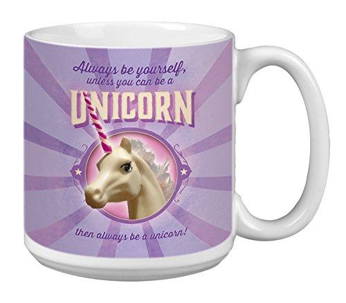 Tree-Free Greetings Extra Large 20-Ounce Ceramic Coffee Mug, Always Be Yourself Themed Unicorn Art (XM63163)