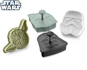 Star Wars Cookie Cutter Set: Yoda, Vader, Boba Fett & Stormtrooper